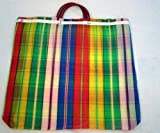 3 Pack Reusable Mexican Market Lg Tote Grocery Bag Recycled Mesh 22'' X 20''