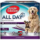 Simple Solution Training Pads for Dogs, All Day Premium, Lavender, 23x24 Inch, 50 Count, 4 Pack
