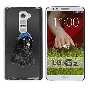 LECELL -- Funda protectora / Cubierta / Piel For LG G2 D800 D802 D802TA D803 VS980 LS980 -- Hipster Bear --