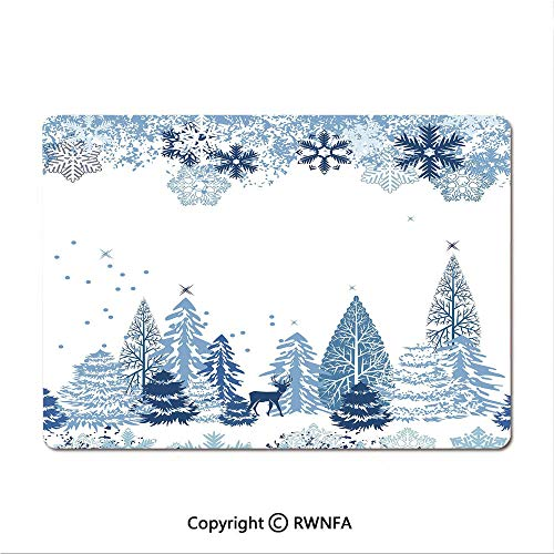 Custom Mouse pad,Snowy Mountain Peaks Tops High Lands Northern Scenic Alps Panorama Valley(8.3