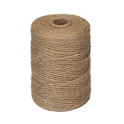 2mm 3Ply Jute Twine, Natural Biodegradable Thick Brown Twine for Garden, Gifts, Crafts
