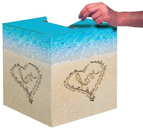 Creative Converting Wedding Card Box, Beach Love (2-Pack) by Creative Converting