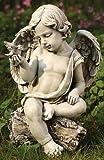 Cherub with Dove Statue