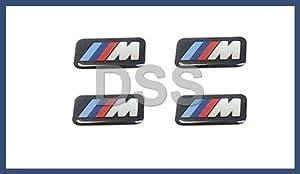 4 BMW Genuine M 3d Stickers Badges Emblems Decals