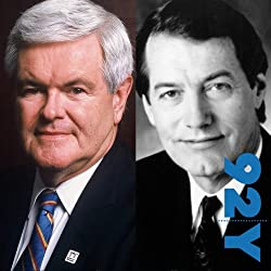 Newt Gingrich with Charlie Rose at the 92nd Street Y