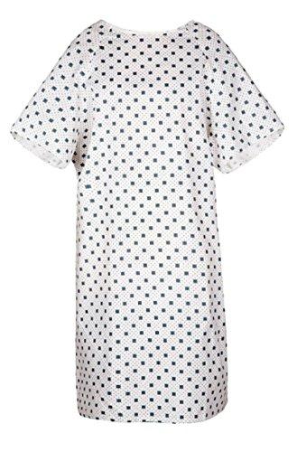 Bella Kline Double Tie Back,Twill Hospital Patient Unisex Gown, White 3Pk (Tie Gown Patient)