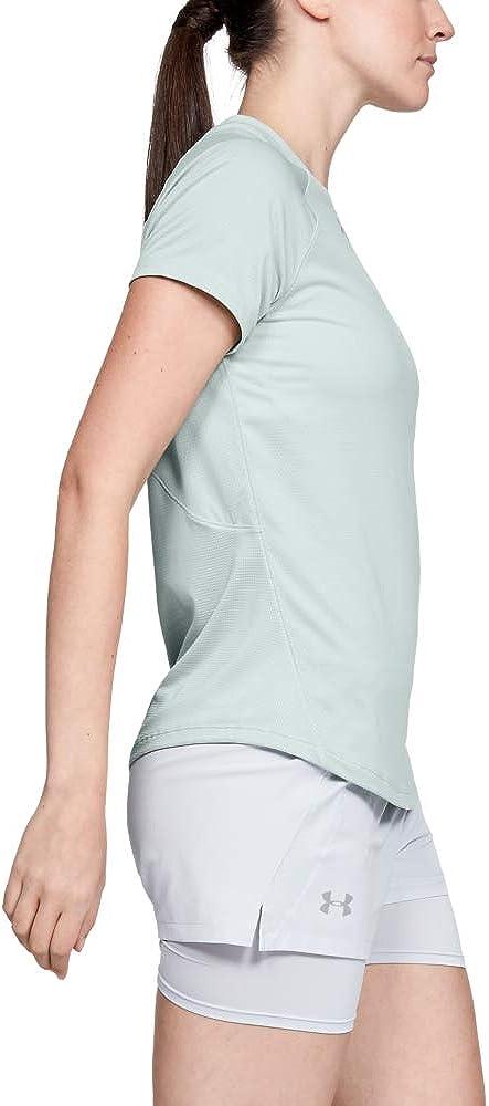 1326504-189 Under Armour Damen Kurzarmshirt Qualifier Short Sleeve XS Gr/ün