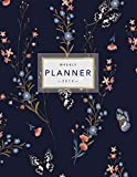 capa de Weekly Planner 2019: Floral Planner 8.5 X 11 in 2019 Organizer with Bonus Dotted Grid Pages, Inspirational Quotes + To-Do Lists Pretty Flowers and Butterflies