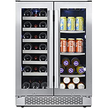 Amazon Com Zephyr Presrv Dual Zone Wine Amp Beverage Cooler