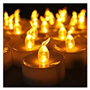 Amazon Lightning Deal 88% claimed: Youngerbaby Amber Yellow Battery-powered Flameless LED Tealight Candles for Weddings, Restaurants and Parties, Dozen-pack