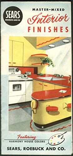 - Sears Roebuck Interior Finishes paint chip folder 1953