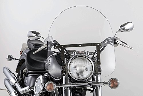 - Slipstreamer SS-30-17CQB SS-30 17in. Classic Windshield with Black Hardware - Clear