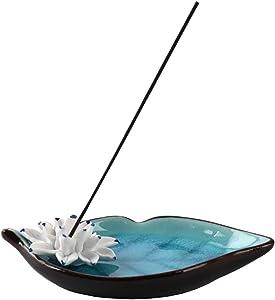 Aowdsye Incense Holder, Incense Burner Bowl for Stick, Ceramic Incense Ash Catcher for Home Office Yoga Meditation