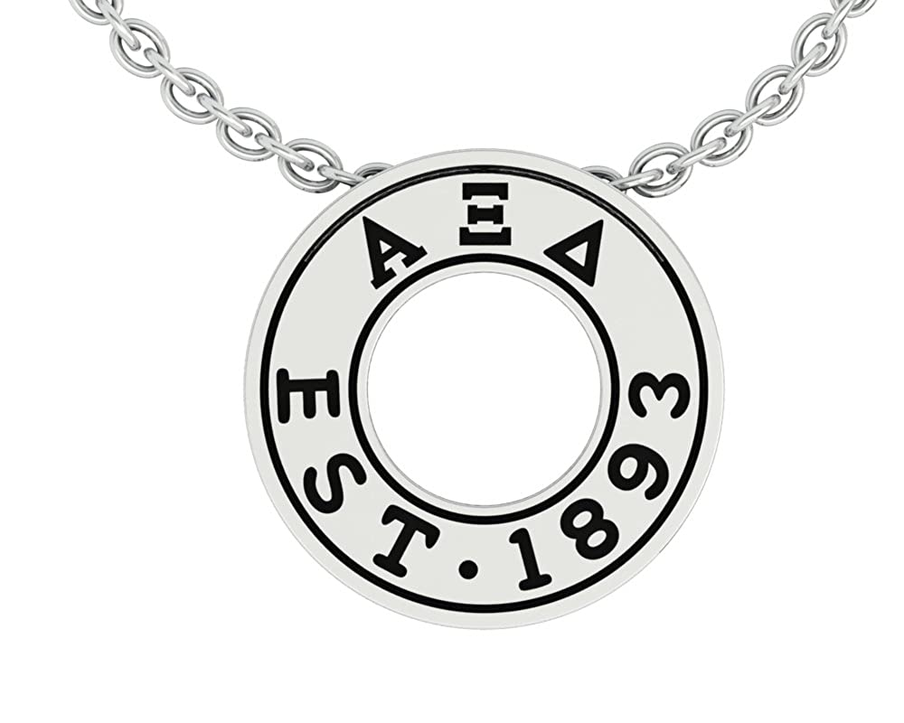 AXD-P006 Alpha Xi Delta Eternity Silver Charm Lavalier