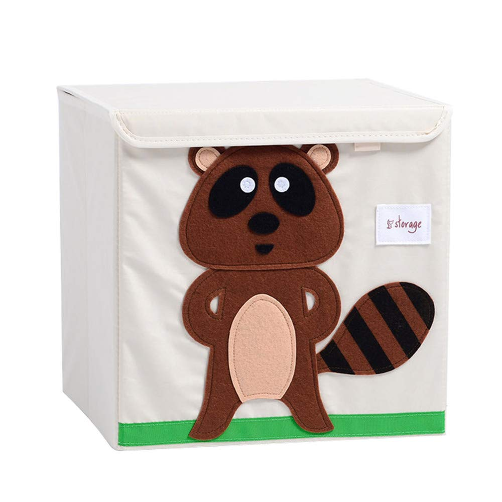 Aufbewahrungsbox Leinwand Faltbare Cartoon Aufbewahrungswürfel Spielzeugkiste Organisator für Kinderspielzeug (Pinguin) SWECOMZE