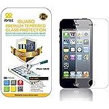 iBroz  - iPhone 5, 5S, 5C - Protection Ecran en Verre Trempé iGUARD Premium Anti Chocs et Casse, Anti Empreintes Digitales et Gras, Bords Arrondis, Dureté Max 9H, Haute Définition 99%, pour iPhone 5, 5S, 5C (Transparent)