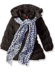 "Pink Platinum Little Girls' ""Shining Snow"" Insulated Parka with Scarf"