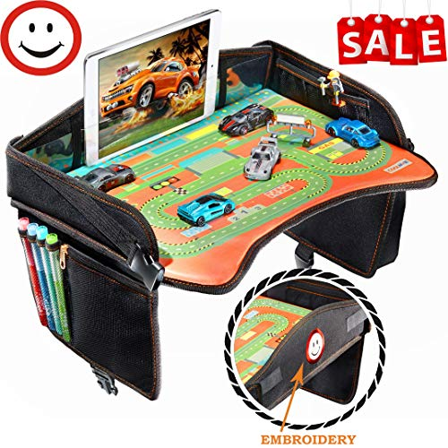 Travel Tray - Ideal as Kids Travel Tray - Toddler Travel Tray & Baby Stroller Tray - Travel Activity Tray & Play Tray - Baby Snack Tray & Kid