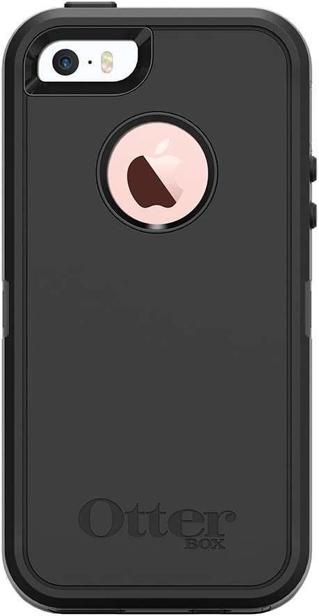 OtterBox DEFENDER SERIES Case for iPhone SE (1st gen - 2016) and iPhone 5/5s - Frustration Free Packaging - BLACK