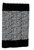 zebra fabric shower curtain - Carnation Home Fashions