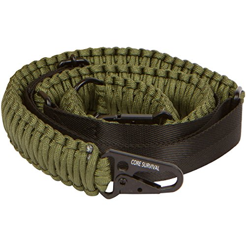 Core Survival Paracord Gun Sling Traditional 2 Point Adjustable Strap for Outdoor Sports (Army, 1.5