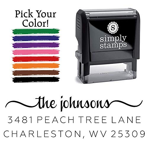 Custom Return Address Stamp, The Johnsons Personalized Self-Inking Address Stamp