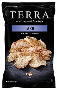 TERRA Vegetable Chips, Taro with Sea Salt, 6 Ounce (Pack of 12)