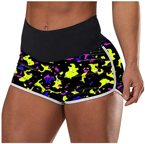 Centory Women`s Dolphin Running Workout Shorts Yoga Sport Fitness Short Pant Yellow