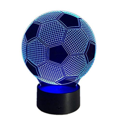 new product 53556 ef734 3D Night Led Lamp Optical Illusion Soccer Smart Touch Button Light 7 Color  Changing Home Decoration
