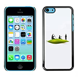 TopCaseStore / la caja del caucho duro de la cubierta de protección de la piel - Boat River White Men Minimalist - Apple iPhone 5C