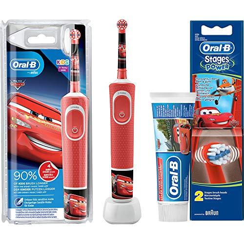 Oral B Stages Power CARS Disney McQueen Bambini Batteria Spazzolino da denti con Timer Magic