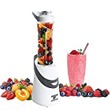Personal Blender Single Serve for Smoothies with Portable Travel Sport Bottle and Lid (300 Watt) by Moss and Stone