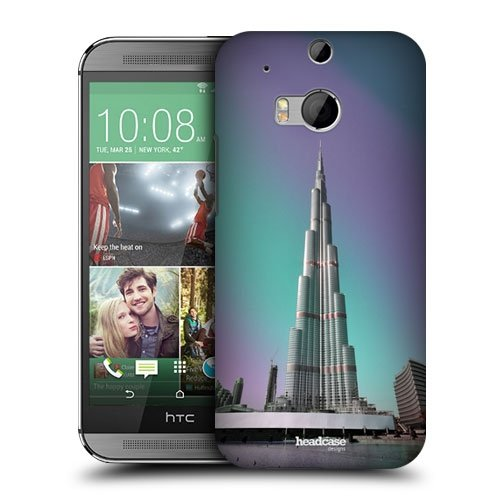 Head Case Designs Burj Khalifa Dubai UAE Best of Places Protective Snap-on Hard Back Case Cover for HTC One M8
