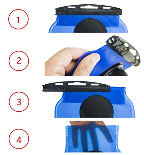 Leak-Proof Water Reservoir WACOOL 3L 3Liter 100oz BPA Free EVA Hydration Pack Bladder