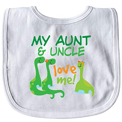 Inktastic - My Aunt and Uncle Love Me Dinosaur Baby Bib White 33f48