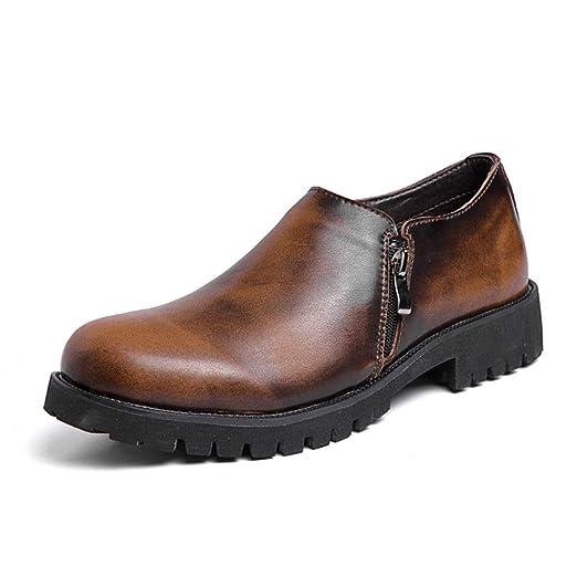 Best-choise Zapatos de Trabajo con Punta Redonda de Cuero ...