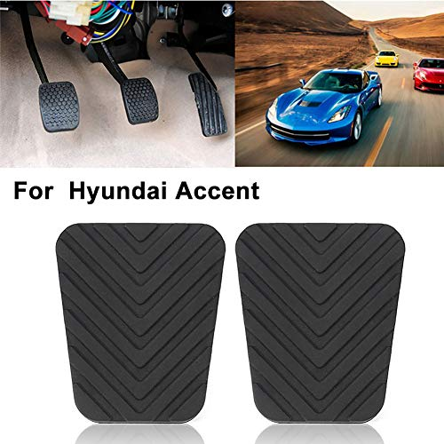 Xuniu 1Pieces Auto Brake Clutch Rubber Pedal Pad for Hyundai Accent Tucson Tiburon 6.6x5.6x1cm