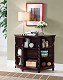Cheap Kings Brand Furniture Wood Entryway Buffet Console Sofa Table, Cherry