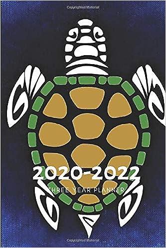 3 Year Planner 2020-2022 Turtles Tortoise Three Years ...