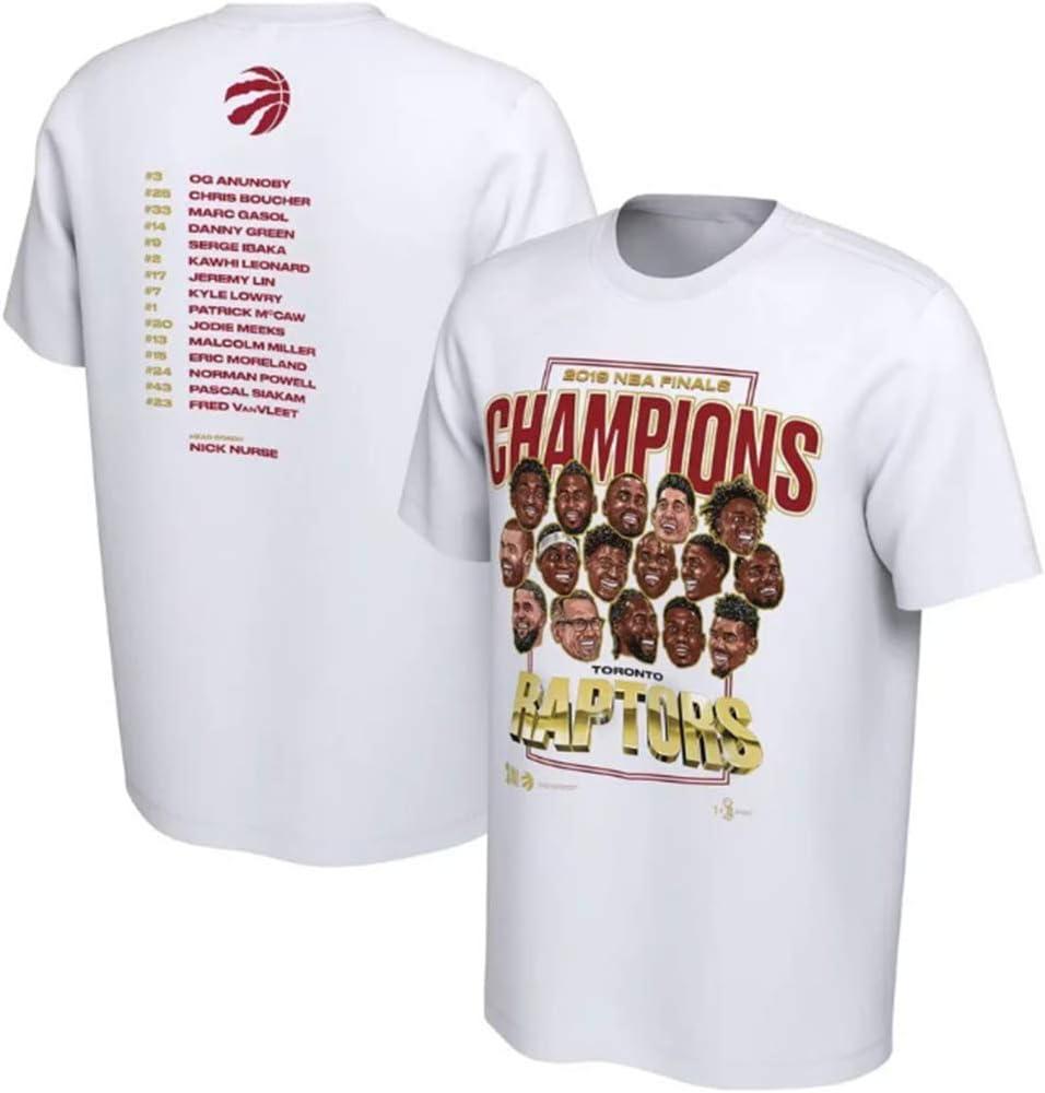 HANJIAJKL T-Shirt Champion de la NBA Raptors de Toronto Fans de Basket-Ball Carnaval All-Star Confortable Demi-Manche S-3XL
