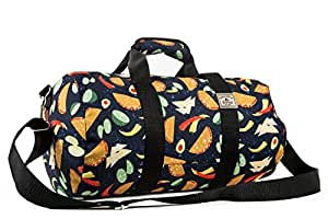 Everest Pattern 16-Inch Round Duffel Bag, Tacos, One Size