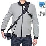 Camera Strap Rapid Fire Shoulder Neck Strap Sling Belt Quick Release and Safety Tether for DSLR SLR Camera (Focus)