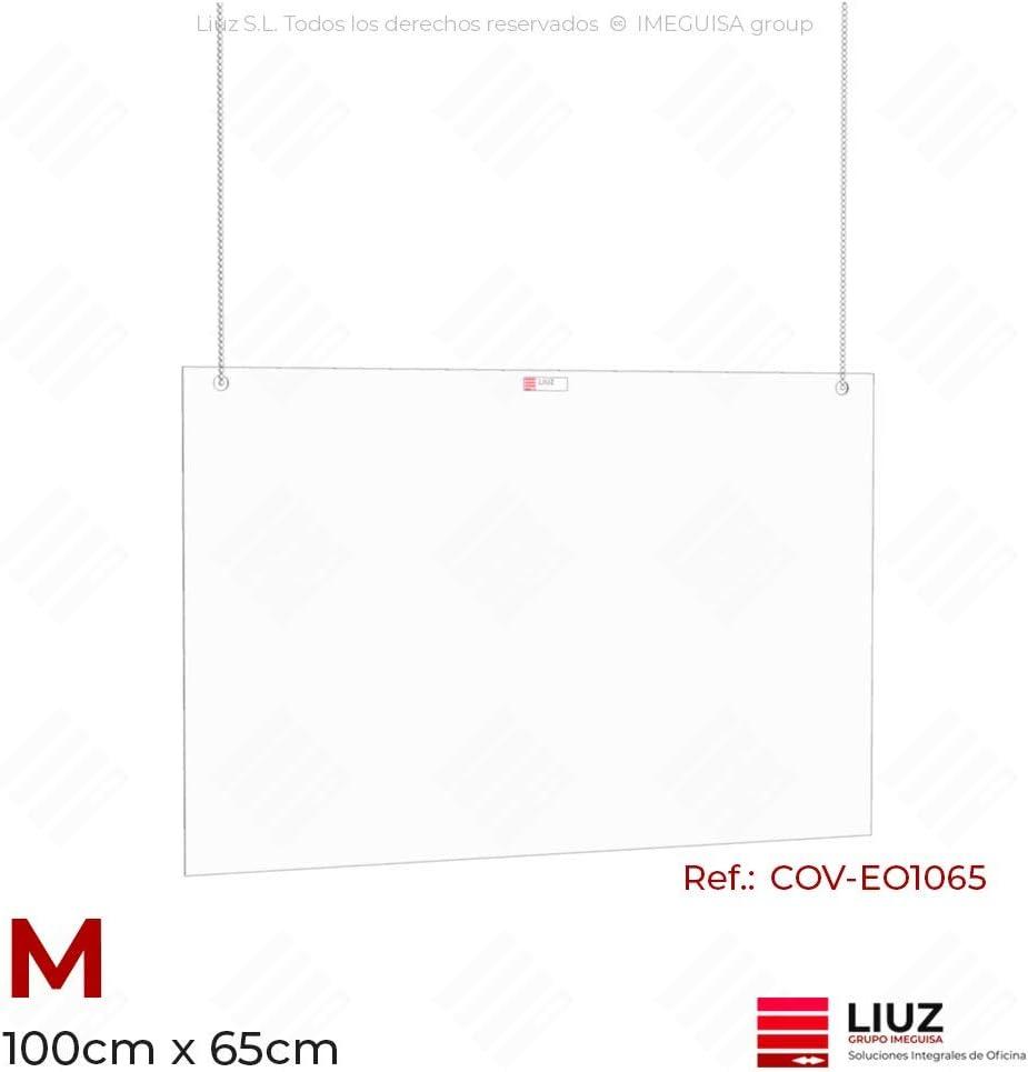 Mampara Proteccion Metacrilato de anclaje en techo para comercios y oficinas (S): Amazon.es: Oficina y papelería