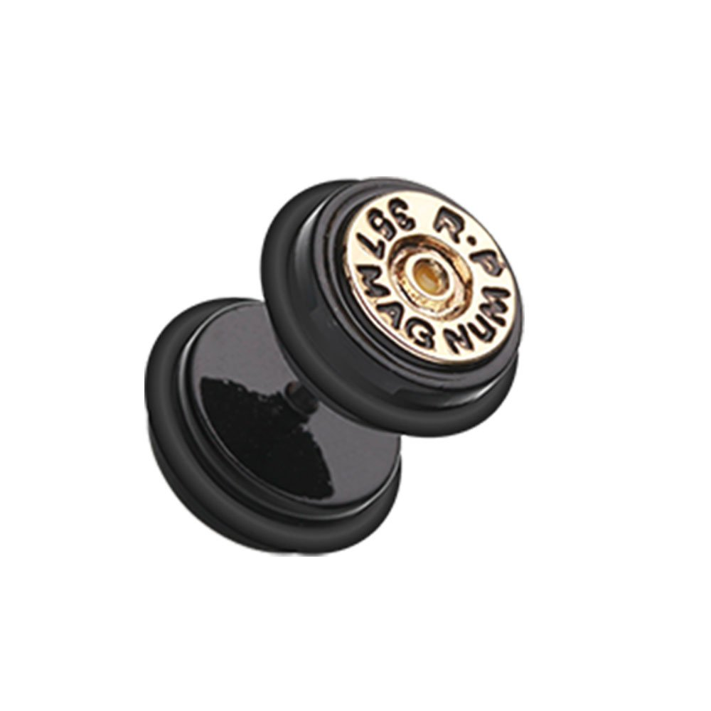 Inspiration Dezigns 16G Magnum Bullet Fake Plug with O-Rings (Sold as a Pair) by Inspiration Dezigns