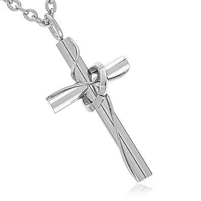aff799a4b6e729 ナピスト レディース ネックレス 十字架 サージカル ステンレス リング クロス 45cm チェーン NPN021