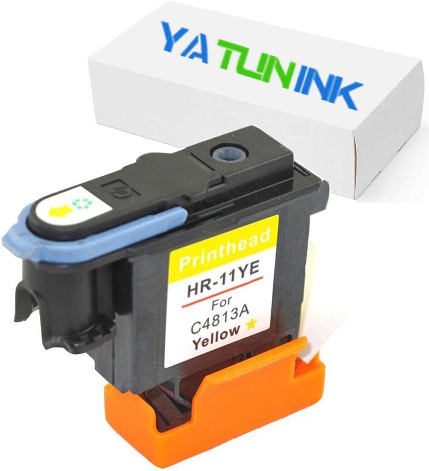 yatunink 1 color Pack # 11 cabezal de impresión (1Yellow) de repuesto para cabezal de impresión HP 11 C4813 A HP Designjet 500 (24-inch) (c7769b), (42-inch) (c7770 F), 500ps (24-inch) (c7769 C), (