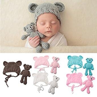 Disfraz de oso de ganchillo para bebé recién nacido y niña, para fotografía