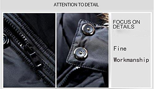 Hooded Jacket Fleece Warm Outerwear Casual Feicuan Men Winter Thicken Coat