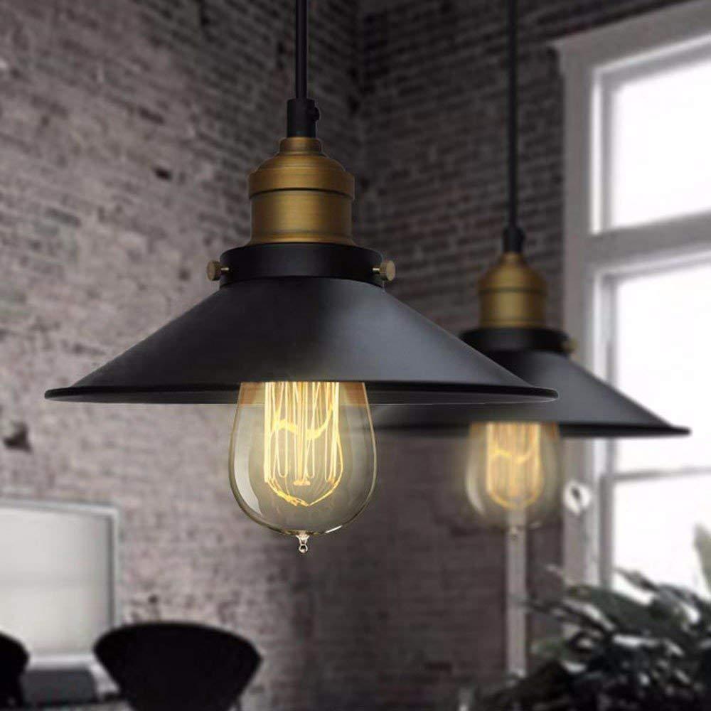 FuweiEncore Pendelleuchte Kronleuchter Das Restaurant Bar Lampe Nordische Persönlichkeit Amerikanischen Industriellen Landhausstil Retro Diameter24Cm