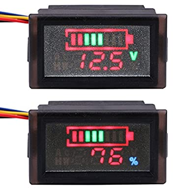 Yeeco LCD Digital Battery Capacity Monitor DC 8-63V Lithium Battery Capacity Tester£¬12V/24V/36V/48V Lead Acid Battery Panel Gauge, Suitable for Car/ Mobile Power etc